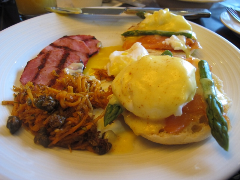 Eggs Benny was to die for at Birds of a Feather B&B