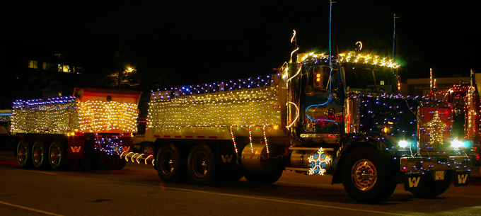 Darrell Courser truck in lighted parade
