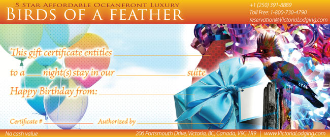 Birds of a Feather Birthday Gift Certificate