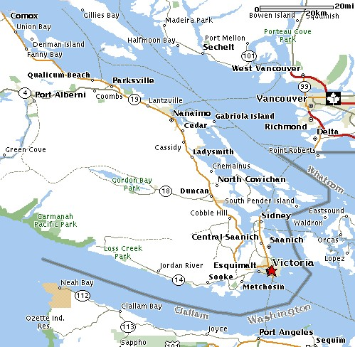 Vancouver Island Day Trip Map