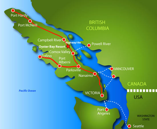vancouver island british columbia map