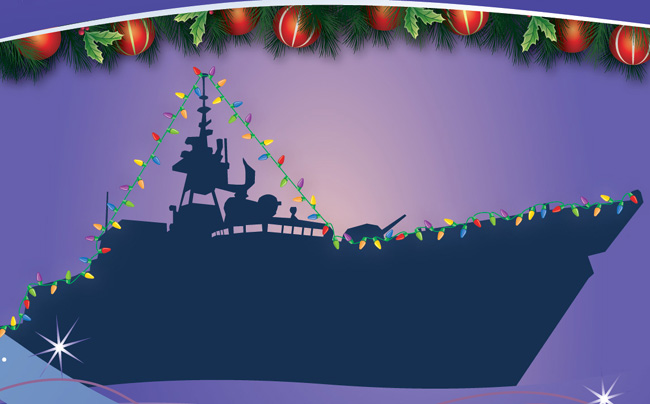 Navy Ships Christmas Lights Birds Of A Feather B Amp B
