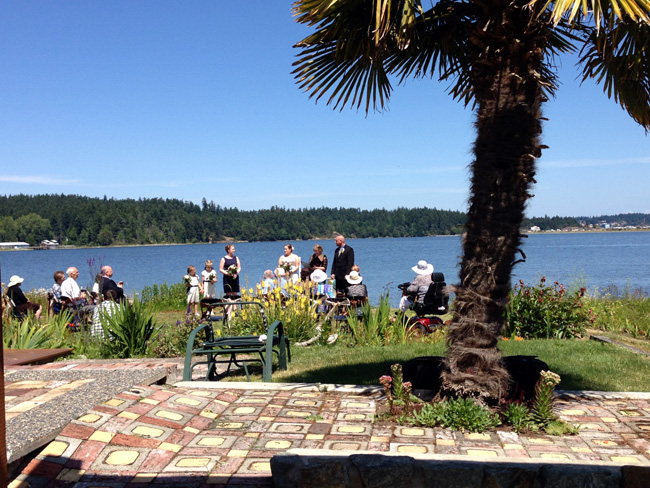 wedding on waterfront B&B in Victoria BC