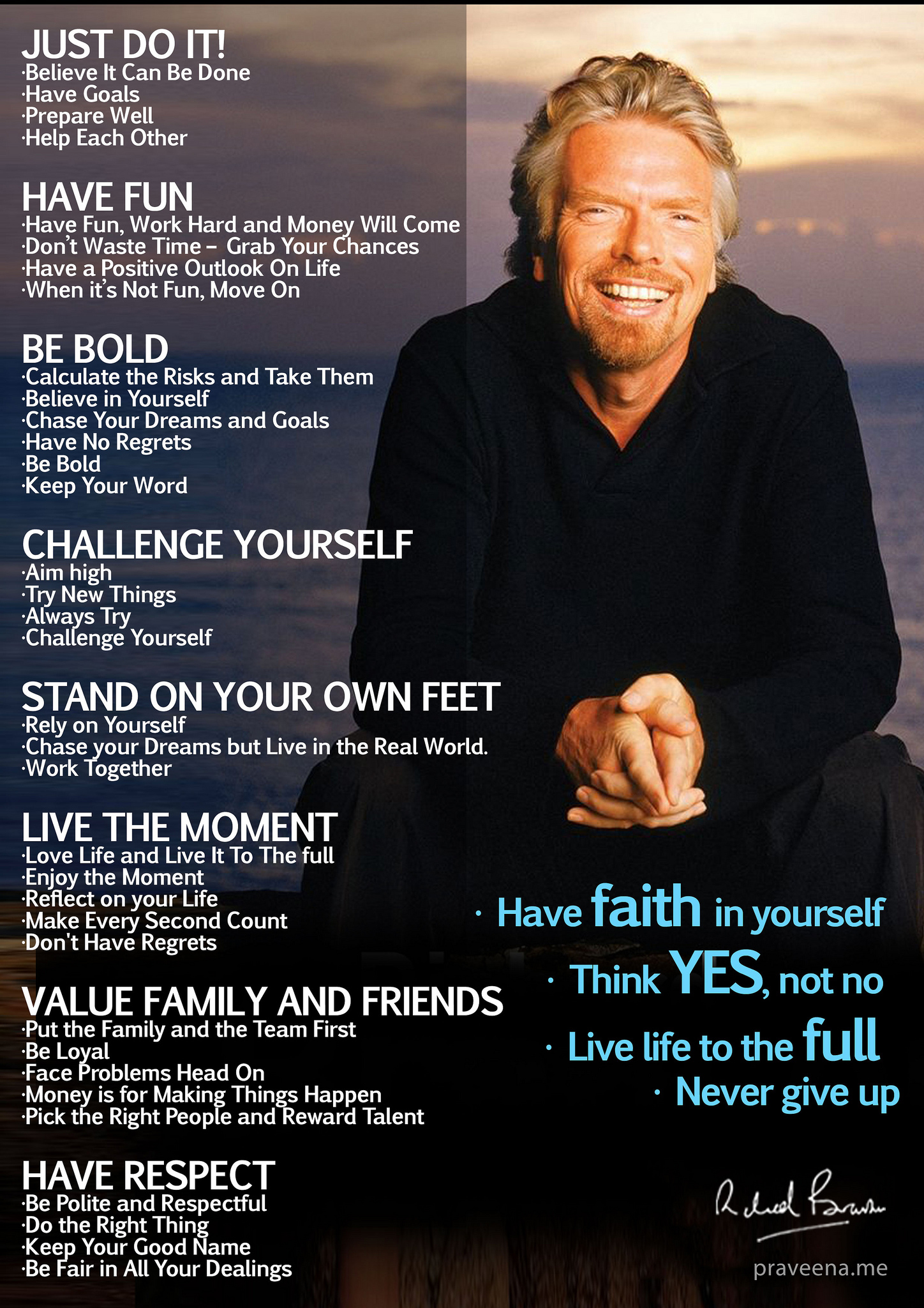 Richard Branson mantra